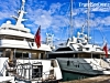 Yachts parked at the dock in Antibes, South of France