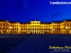 Schönbrunn Palace in Vienna, Austria at night