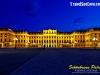 Schönbrunn Palace in Vienna, Austria at night