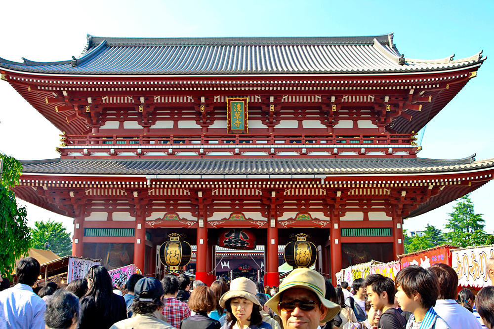 The magnificent Sensō-ji - it was so packed!