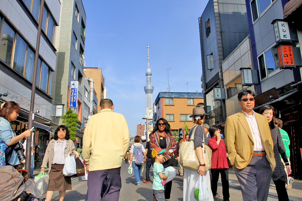 On the streets of Asakusa