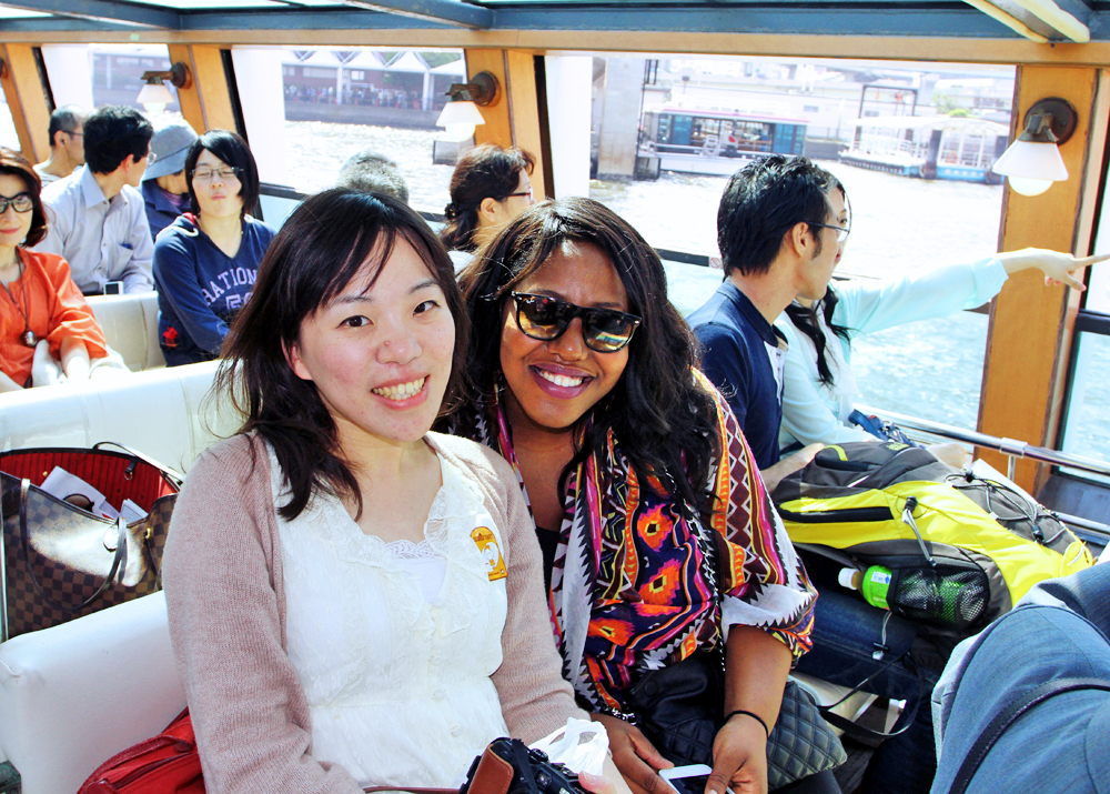 While on the ferry, we made a new friend, Kim from Taipei, who we hung out with for the rest of the day!