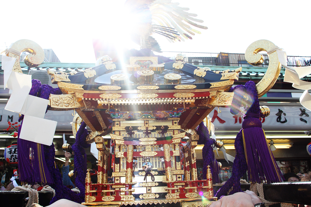 One of the mikoshi (portable shrines)