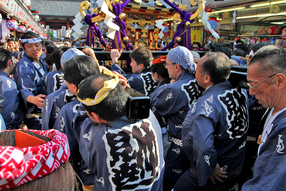 Carrying a little mikoshi