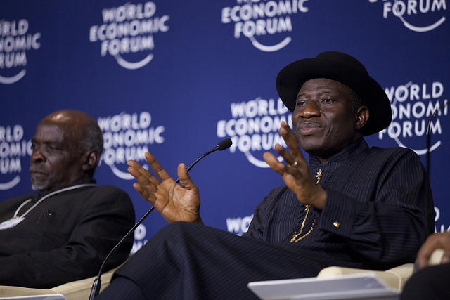 Goodluck Jonathan at the World Economic Forum on Africa