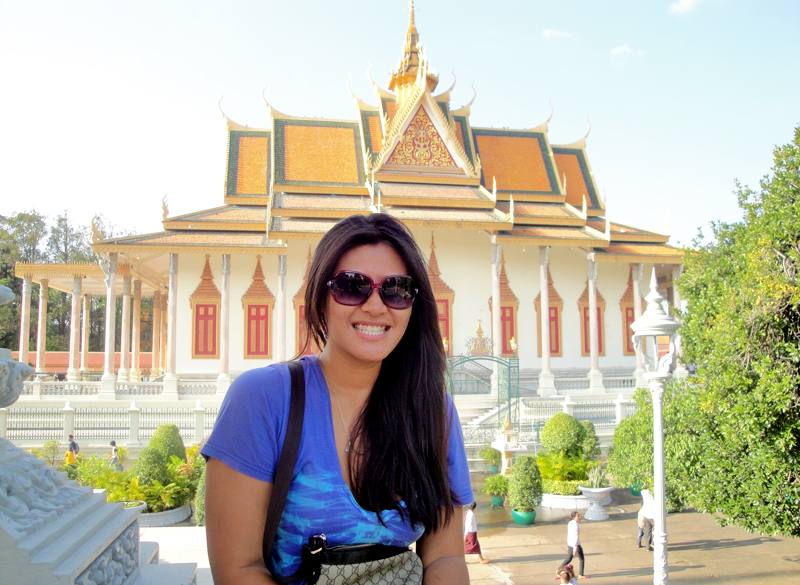 At the royal palace in Phnom Penh, Cambodia