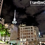 While strolling the streets of Auckland, New Zealand at night