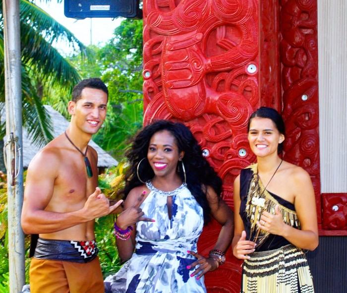 With new friends from Aotearoa #Shaka #PolynesianCulture