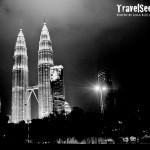A view of the Petronas Twin Towers in Kuala Lumpur, Malaysia