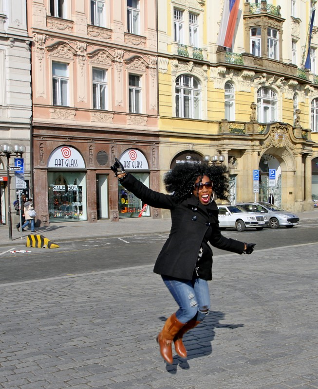 Jumping is not my core competency and being in Prague doesn't change that :)