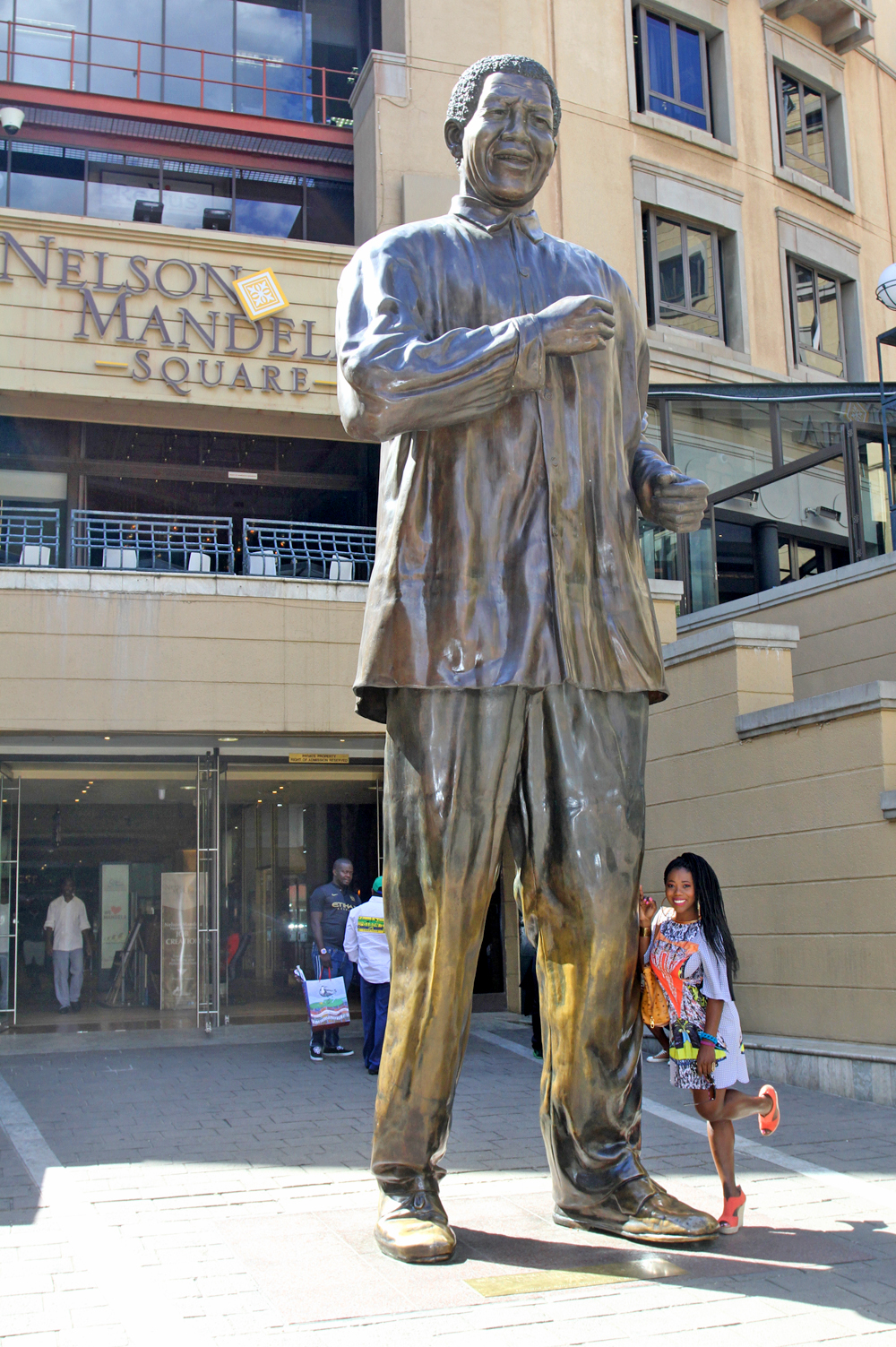 Visiting Nelson Mandela Square in Johannesburg, South Africa