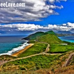 Where the Caribbean Sea meets the Atlantic Ocean in St. Kitts