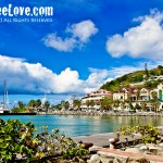 At Marigot Bay on the french side of Sint Maarten/St. Martin