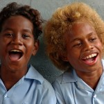 A genetic study has found that the islanders have a 'homegrown' gene that gives them blond hair - and it's different from the one in Europeans