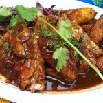 Jerk Chicken with Sweet Ripe Plantains. Photo credit not found. TravelSeeLove.com does not claim any rights whatsoever to this photo.
