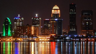 Louisville from the Ohio River. Photo credit  flickr.com/photos/sniegowski/