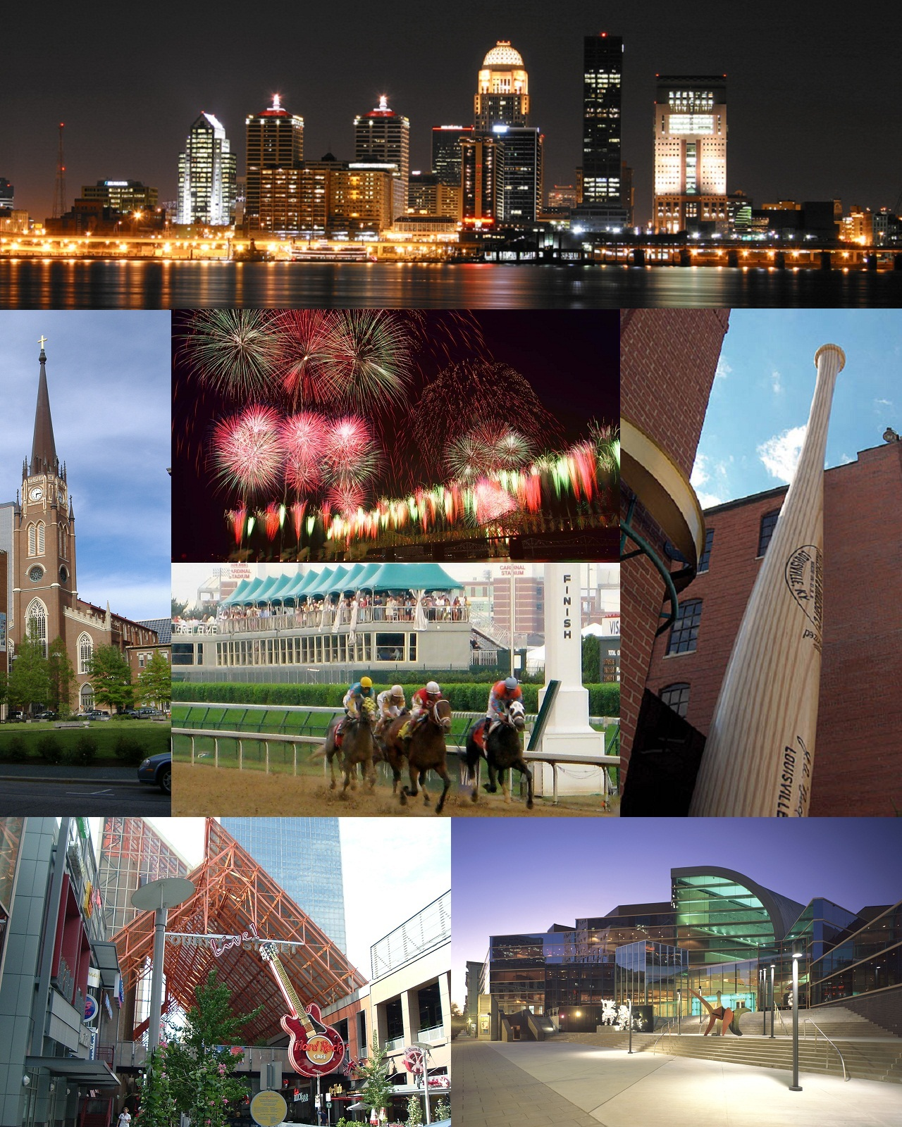 Louisville Montage. A Wikimedia Commons freely licensed montage.