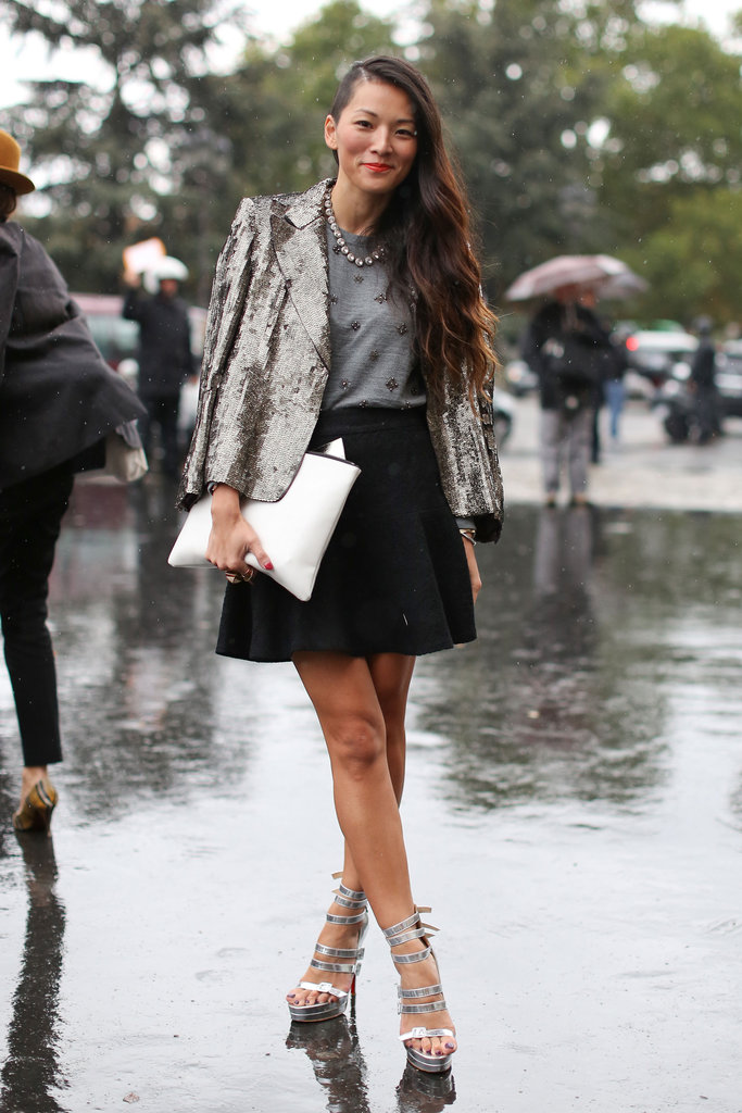 Paris Fashion Week Street style. Photo credit not found. TravelSeeLove.com does not claim any rights whatsoever to this image.
