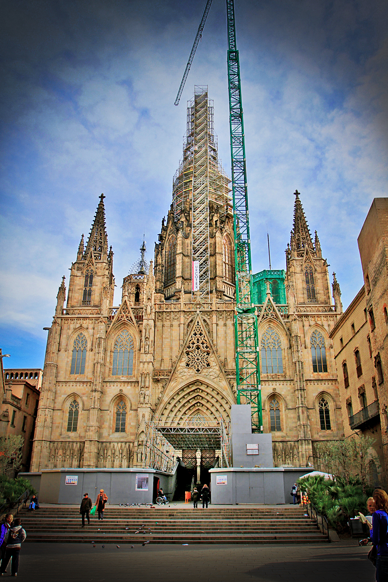 The Barcelona Cathedral, right opposite Hotel Colon
