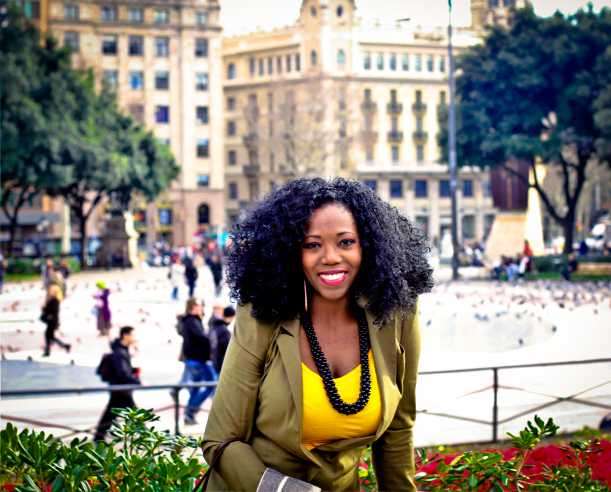 In Catalunya square... thankfully, I didn't get pooped on by pigeons.. that's one of my greatest fears, lol