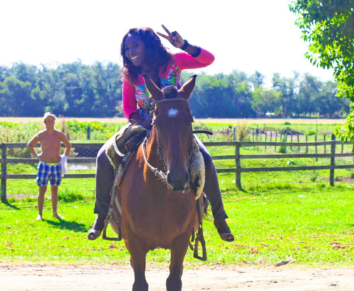 Giddy up cowgirl! Horseback riding was so much fun :)