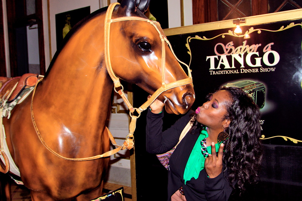 Showing the stallion some love at Sabor a Tango before the show