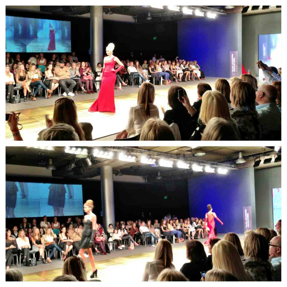 At the Iaia Cano show at Argentina Fashion Week.. impressive showing!