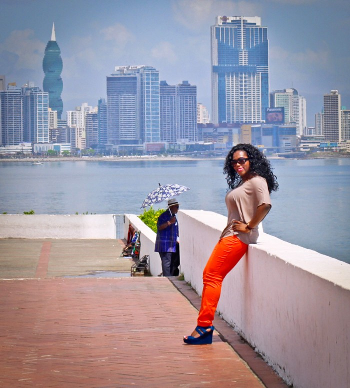 My private tour guide took this picture of me at Casco Viejo on a solo excursion to Panama City, Panama