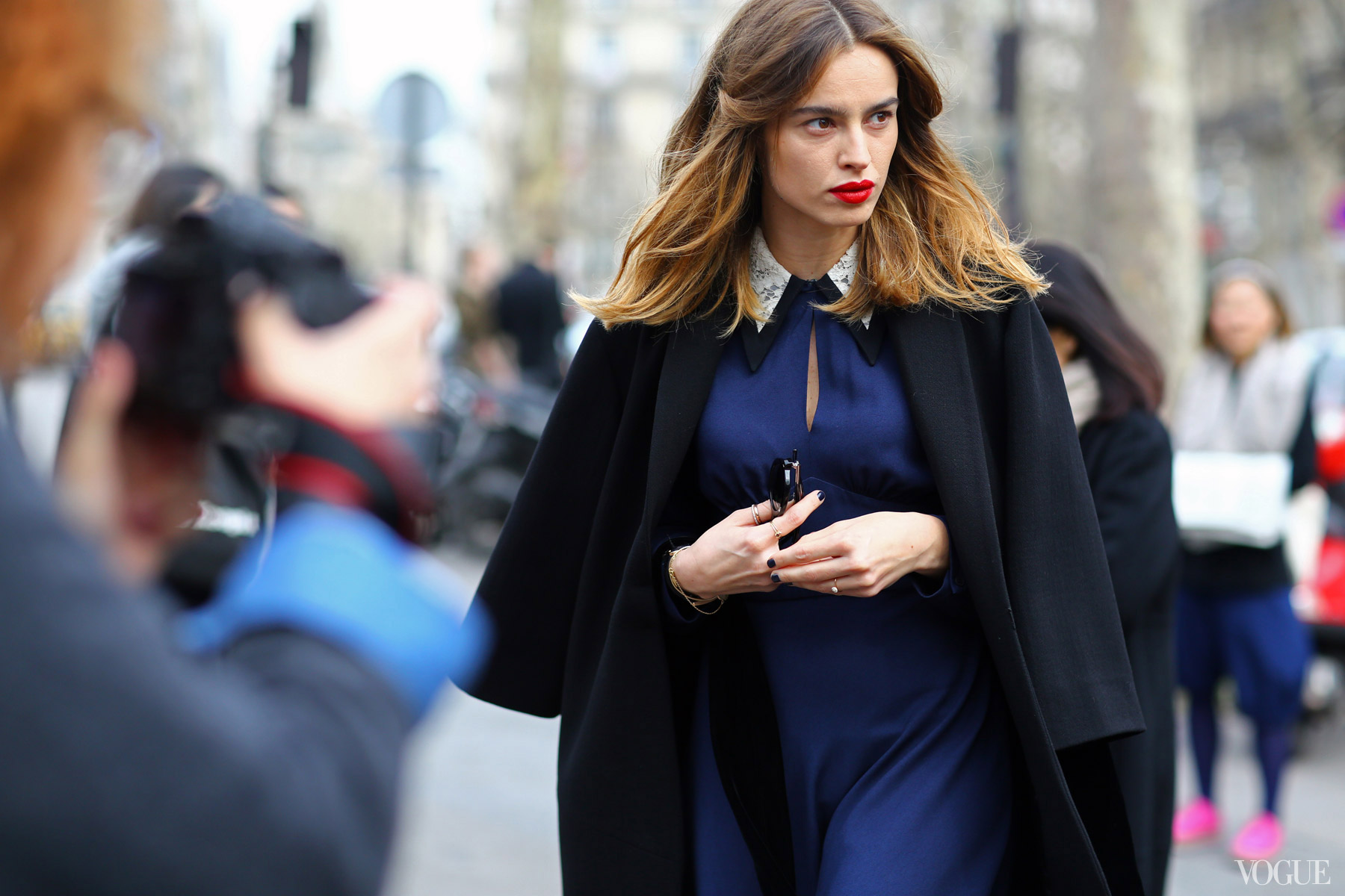 Paris Fashion Week 2013 street style. Photo courtesy of Vogue.