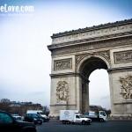 The Arc de Triomphe at the end of Champs-Élysées