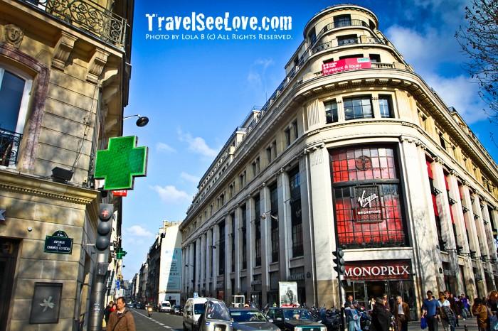 Strolling along the Champs-Élysées