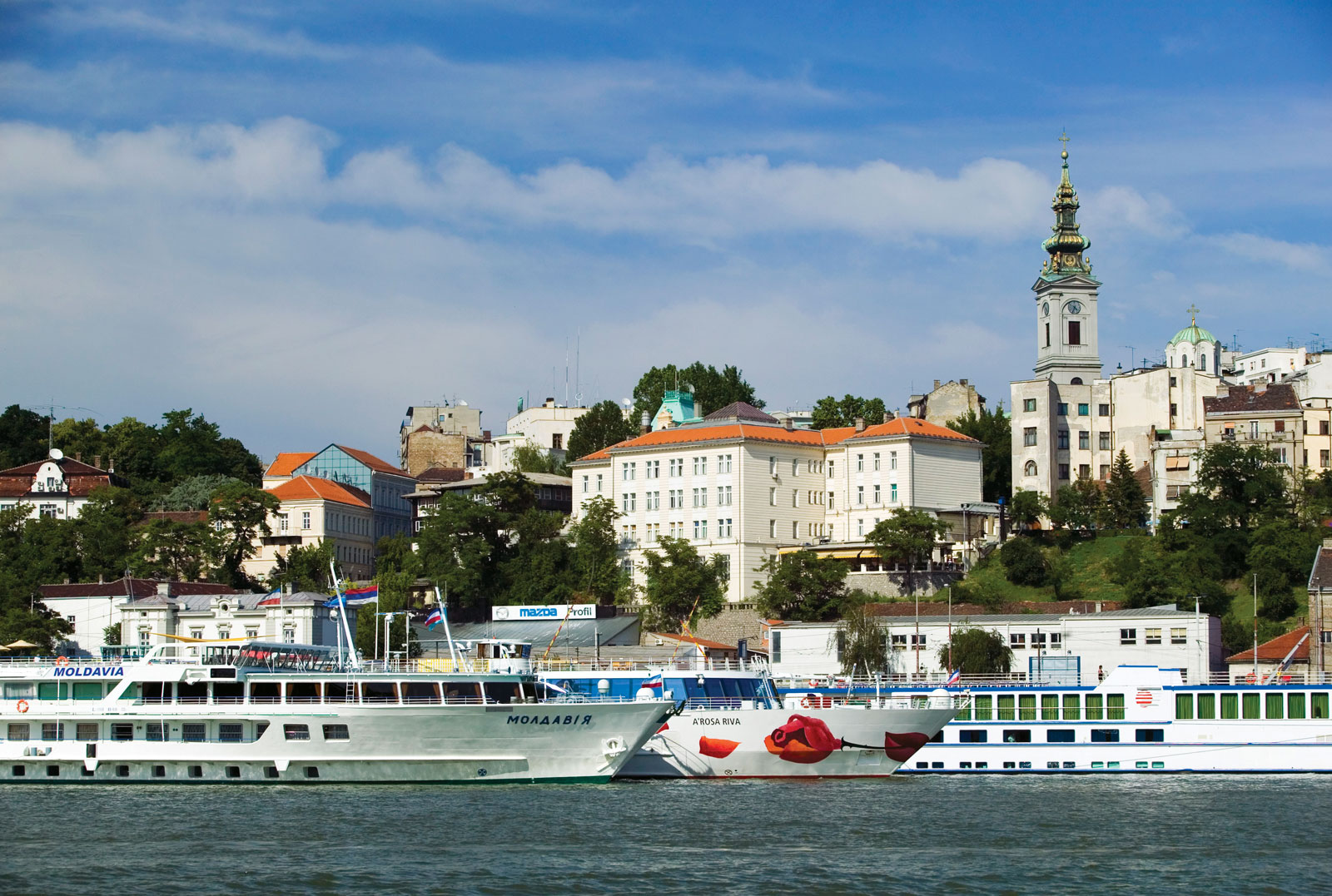 Belgrade across the Danube. Image credit not found. TravelSeeLove.com does not claim any rights whatsoever to this image.