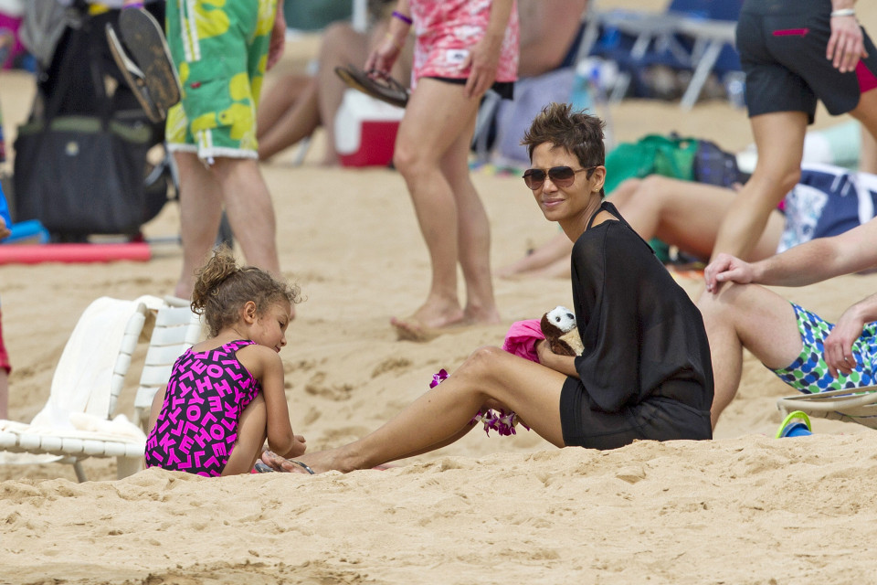Halle Berry gets her groove back in Maui. Photo credit AKM-GSI.