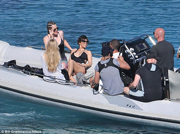 Kardashians in Mykonos. Photo by Bill Grammenos:Nikos