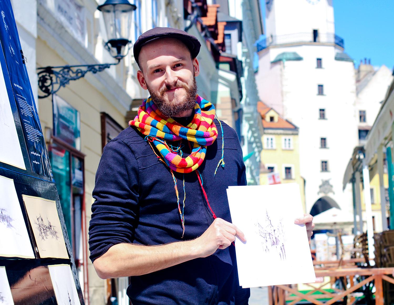 Street artist Pavel Filgas