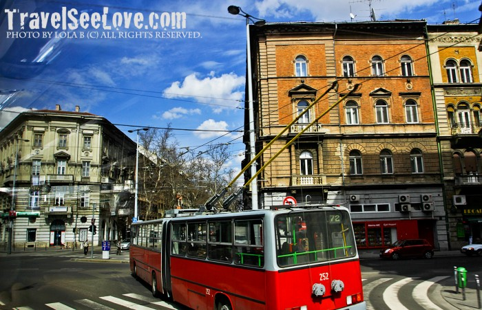 Trams run through the city on the Pest side