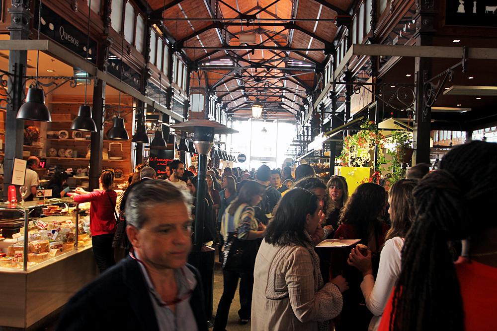 Inside Mercado de San Miguel market