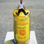 3Dstreetart-mustard