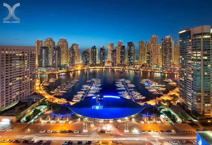 Stunning view of the Dubai Marina. Photo by Dubai photographer,  Daniel Cheong