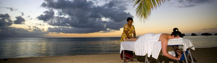 Who doesn't enjoy massages on the beach?