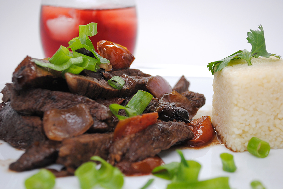 Beef dish, made by the Afropolitan Chef