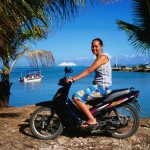 Cook Islands motor scooter, from LonelyPlanet