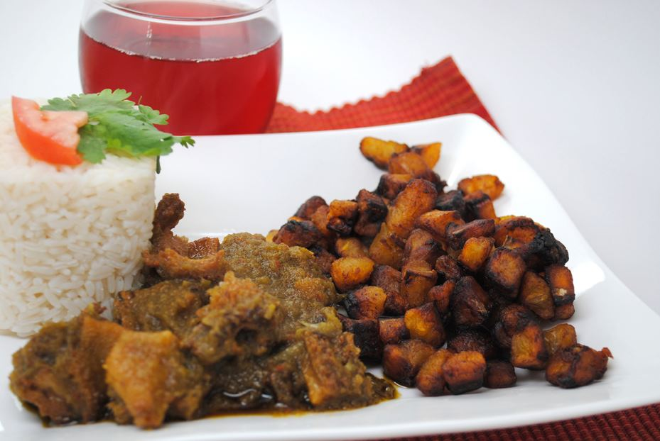 Dodo and rice, one of my favorite dishes, made by the Afropolitan Chef