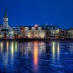 Reykjavik at night. Photo credit not found. TravelSeeLove.com does not claim any rights whatsoever to this image.