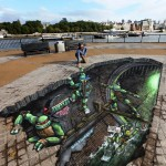 Teenage Mutant Ninja Turtles by 3D Joe and Max for Nikelodeon disaplayed in London sml