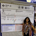 We rode on the Ginza line