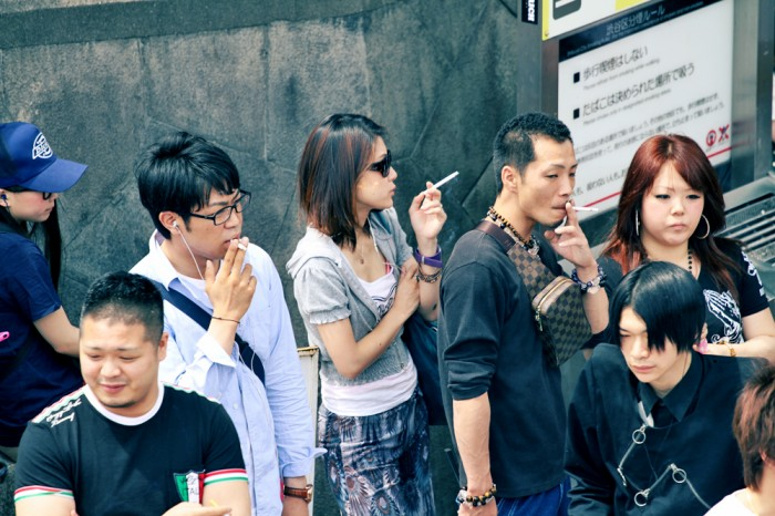 Smoking amongst the youth is a fashion statement in Harajuku