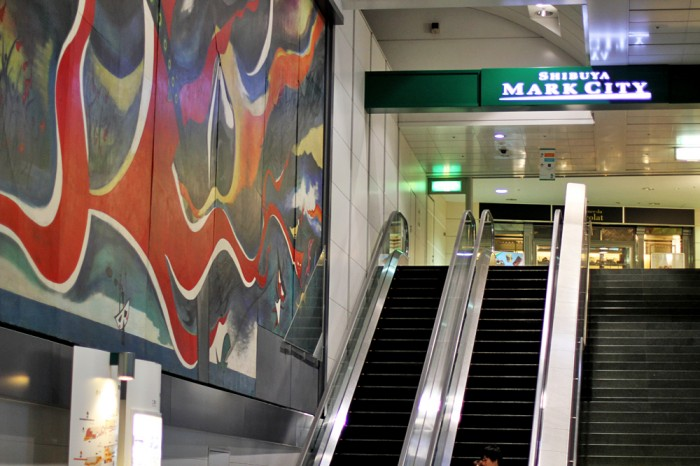 What the subway looked like at Shibuya.. not only clean, but also laced with wonderful artwork at every station