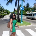 Taking a leisurely stroll in downtown Nassau