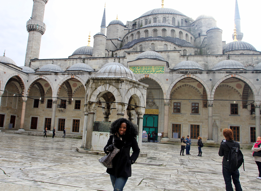 First stop, the magnificent Blue Mosque!